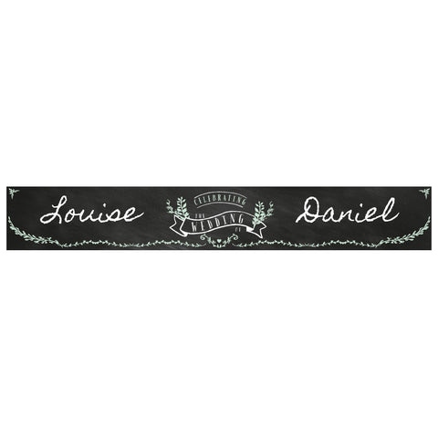 Blackboard Wedding Banner <br/> with a space for a name or message - Hello Party - All you need to make your party perfect!