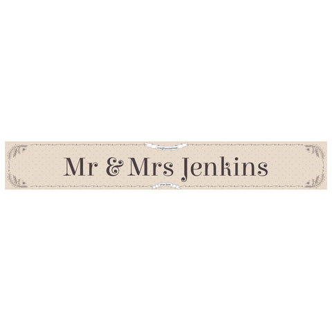 Classic Country Wedding Banner <br/> with a space for a name or message