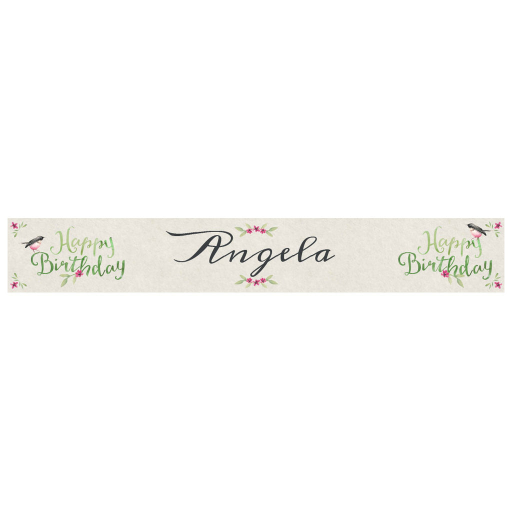 Watercolour Wreaths Banner <br/> with a space for a name or message