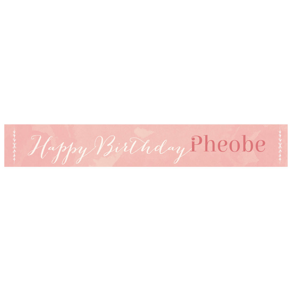 Pretty in Pink Banner <br/> with a space for a name or message
