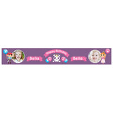 Pirate & Princess Party Banner <br/> with spaces for 2 photos and a name or message