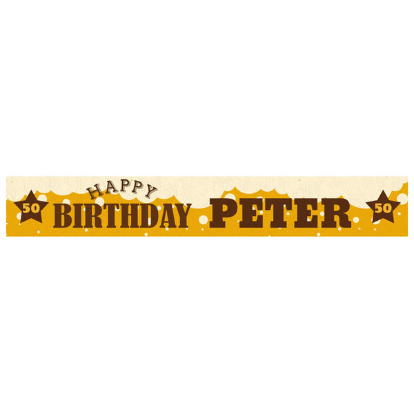 A Pint of Birthday Beer Banner <br> with a space for a name or message  Personalisable Banner Hello Party - All you need to make your party perfect! - Hello Party