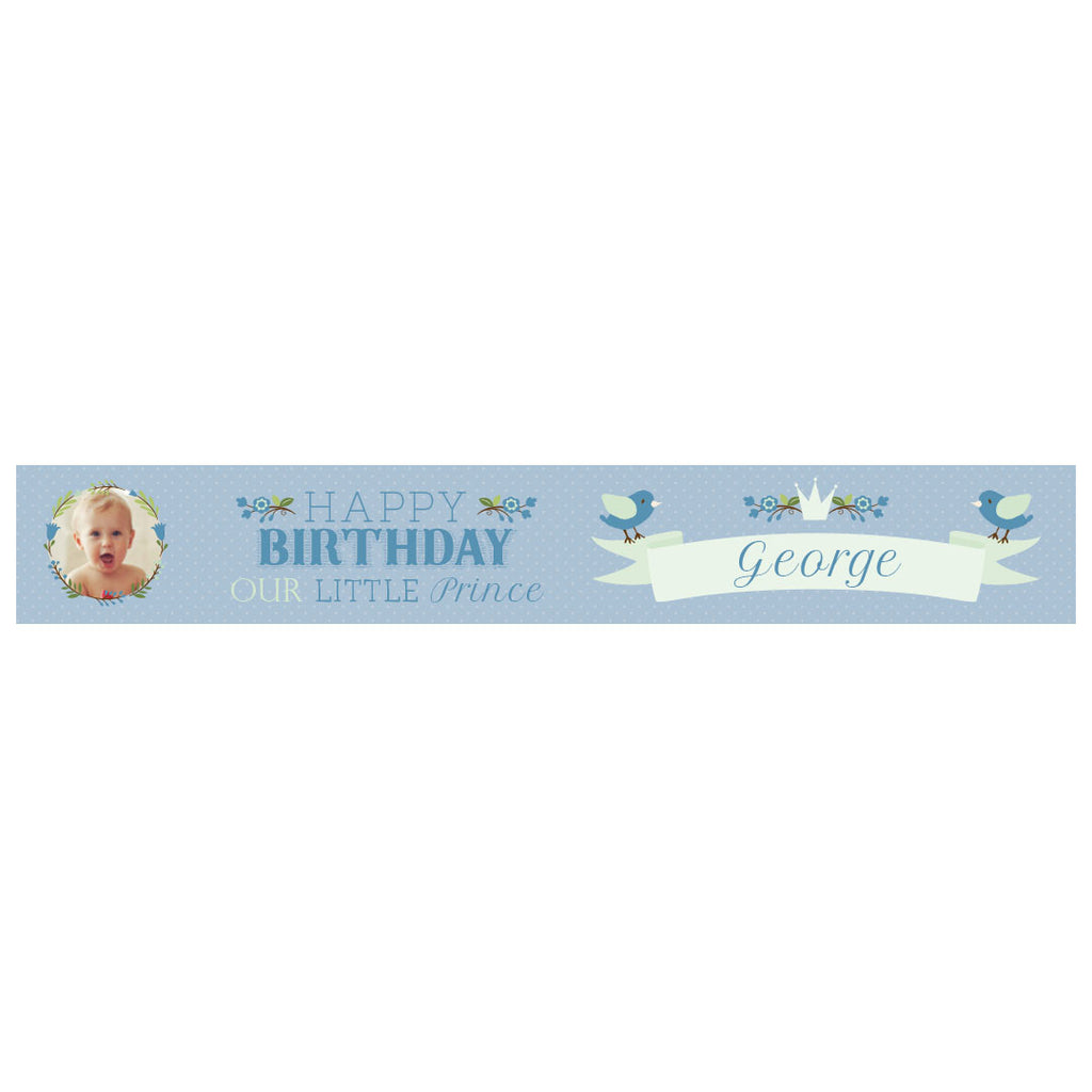 Our Little Prince Banner <br/> with a space for 1 photo and a name or message