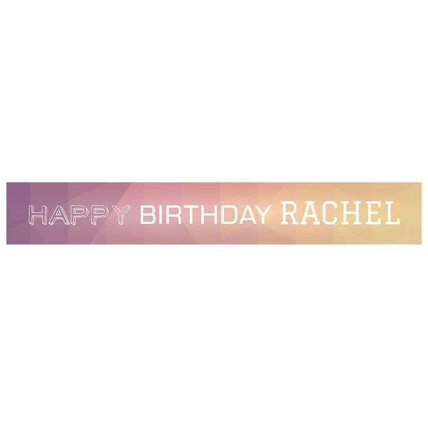 Geometric Pastels Banner <br/> with a space for a name or message