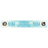 Ice Princess Banner <br/> with spaces for 2 photos and a name or message