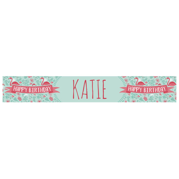 Flower Girl Banner <br/> with a space for a name or message
