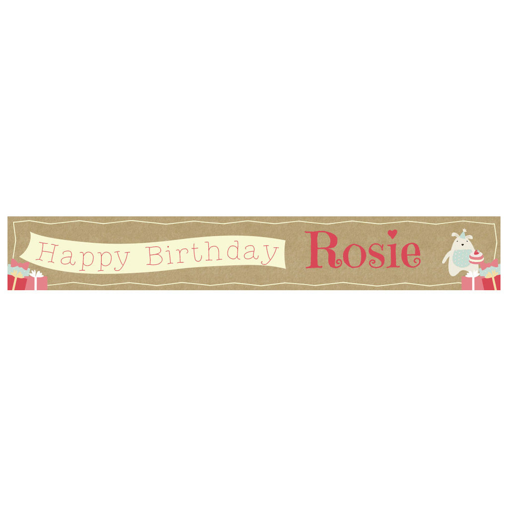 Cute Tea Party Banner <br/> with a space for a name or message