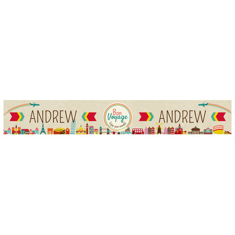 City Hopping Banner <br/> with a space for a name or message  Personalisable Banner Hello Party - All you need to make your party perfect! - Hello Party