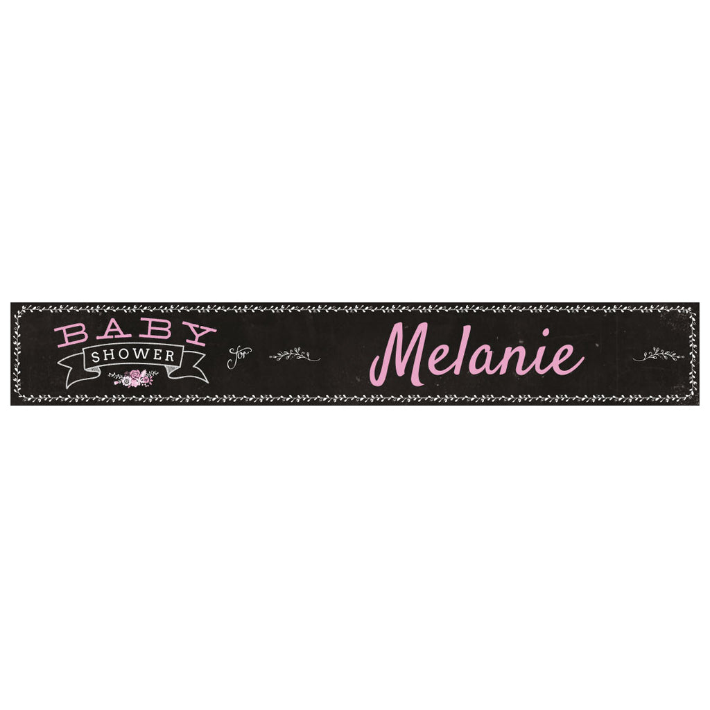 Blackboard Baby Shower Pink Banner <br/> with a space for a name or message  Personalisable Banner Hello Party - All you need to make your party perfect! - Hello Party