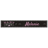 Blackboard Baby Shower Pink Banner <br/> with a space for a name or message - Hello Party - All you need to make your party perfect!