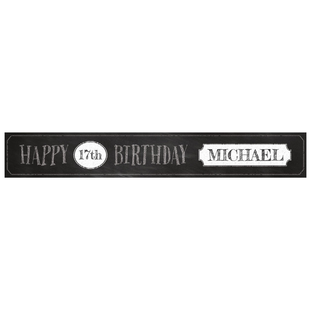 Cheeky Chalk Banner <br/> with a space for a name or message - Hello Party - All you need to make your party perfect!