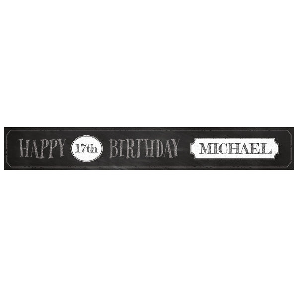 Cheeky Chalk Banner <br/> with a space for a name or message  Personalisable Banner Hello Party - All you need to make your party perfect! - Hello Party