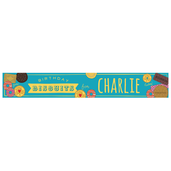 Birthday Biscuits Banner <br/> with a space for a name or message  Personalisable Banner Hello Party - All you need to make your party perfect! - Hello Party