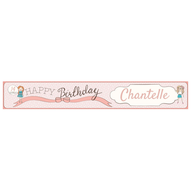 Birthday BFFs Banner <br/> with a space for a name or message  Personalisable Banner Hello Party - All you need to make your party perfect! - Hello Party