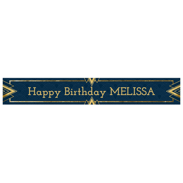 Art Deco Banner <br/> with a space for a name or message  Personalisable Banner Hello Party - All you need to make your party perfect! - Hello Party