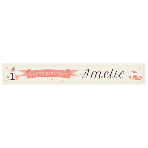 1st Birthday Forest Banner <br/> with a space for a name or message  Personalisable Banner Hello Party - All you need to make your party perfect! - Hello Party