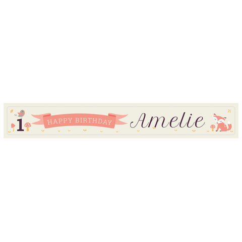 1st Birthday Forest Banner <br/> with a space for a name or message - Hello Party - All you need to make your party perfect!