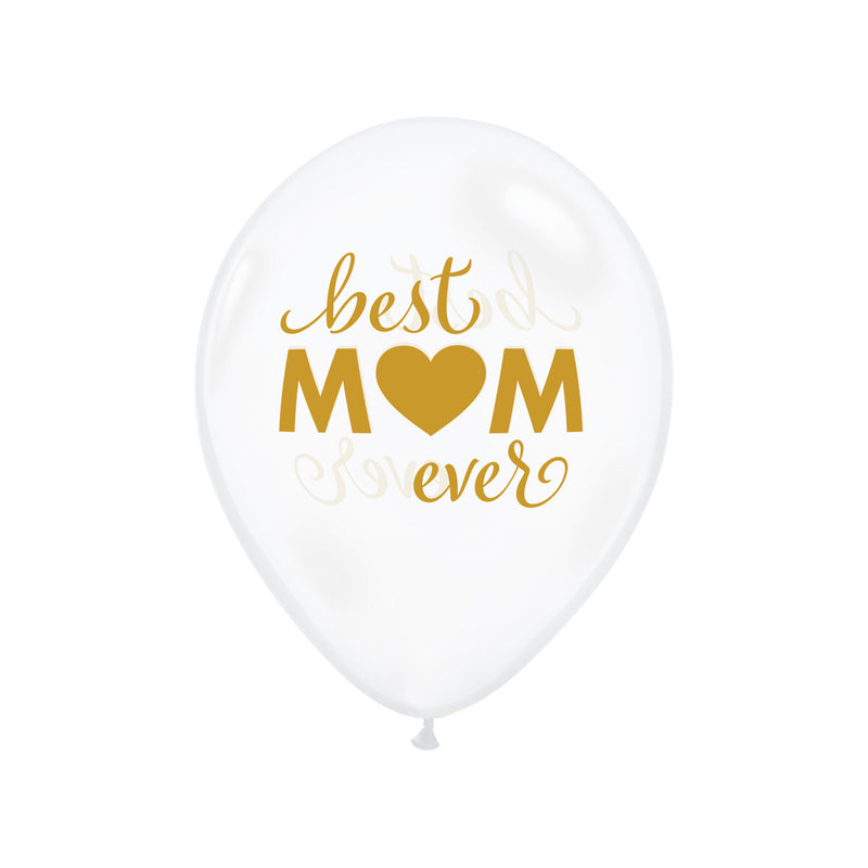 Best Mum Ever Clear Balloons  Printed Latex Balloons Hello Party Essentials - Hello Party