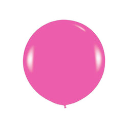 "Giant round 36"" Balloon Fuchsia  Giant Round Latex Balloon Hello Party - All you need to make your party perfect! - Hello Party"