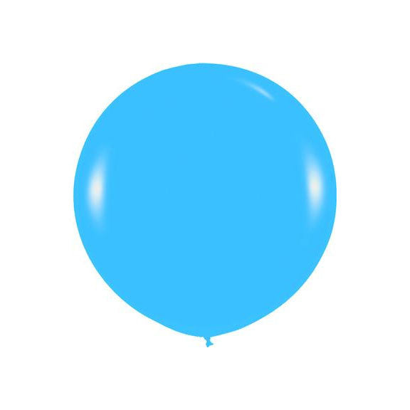 "Giant round 36"" Balloon Blue  Giant Round Latex Balloon Hello Party - All you need to make your party perfect! - Hello Party"