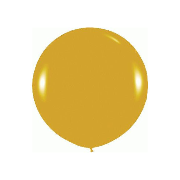 "Giant round 36"" Balloon Metallic Gold  Giant Round Latex Balloon Hello Party - All you need to make your party perfect! - Hello Party"