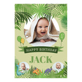 Birthday Dinosaurs Poster <br/> with spaces for 3 photos and your name or message  Personalisable Poster Hello Party - All you need to make your party perfect! - Hello Party