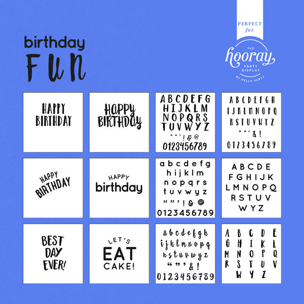 Birthday Fun Template Pack for your Hooray Party Display  Hooray Party Display Templates Hello Party - Hello Party