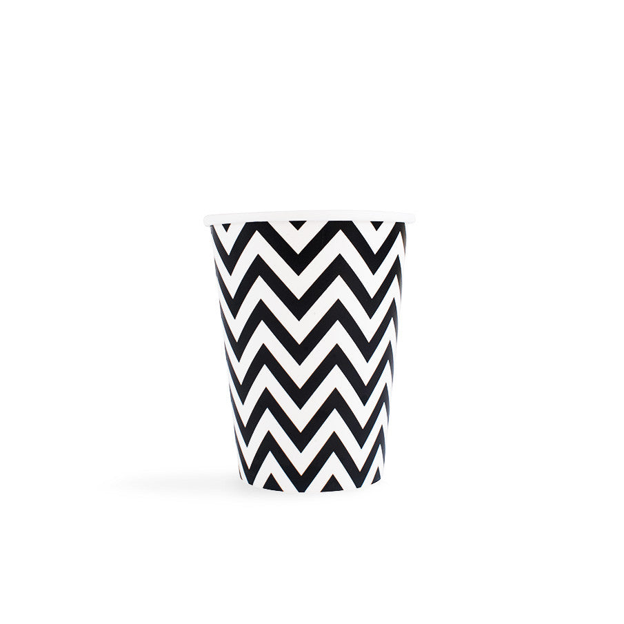 Black Chevron Cups - Hello Party - All you need to make your party perfect!