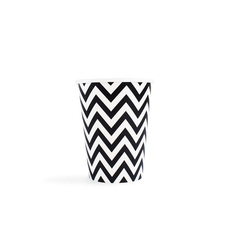 Black Chevron Cups  Party Cups Hello Party - All you need to make your party perfect!  - Hello Party