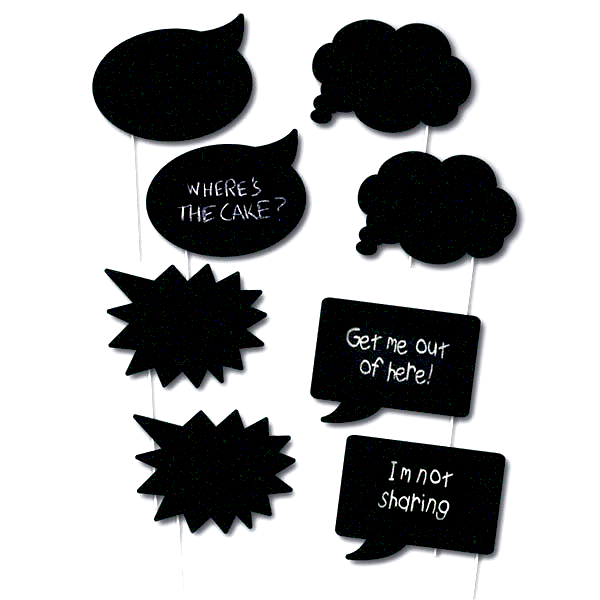 Chalkboard Photo Props  Photo Props Hello Party - All you need to make your party perfect!  - Hello Party