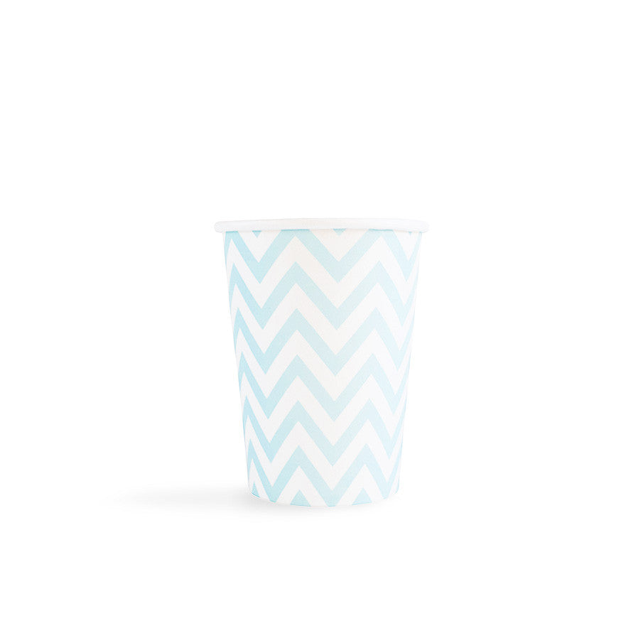 Light Blue Chevron Cups