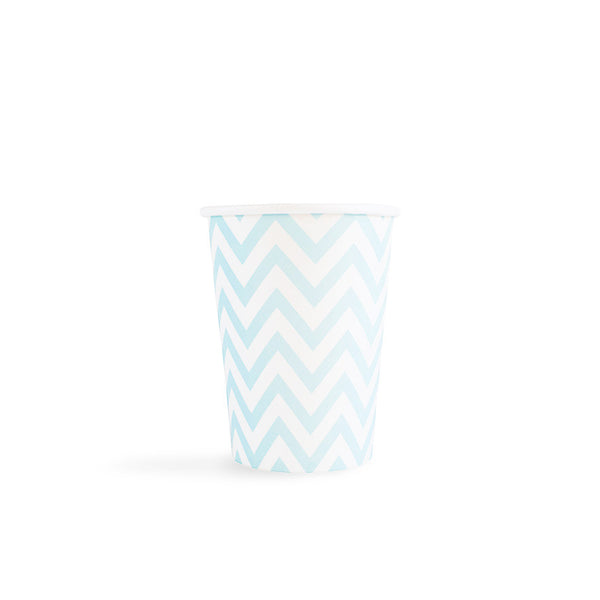 Light Blue Chevron Cups  Party Cups Hello Party - All you need to make your party perfect!  - Hello Party