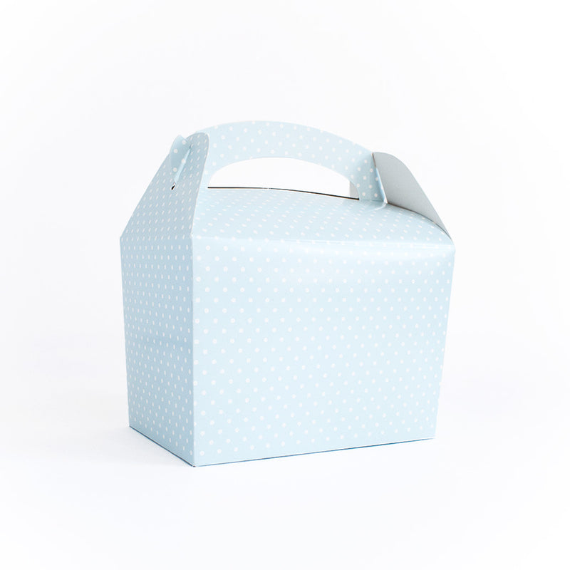 Blue polka dot lunch box  Party Lunch Box HelloPartyUK - Hello Party