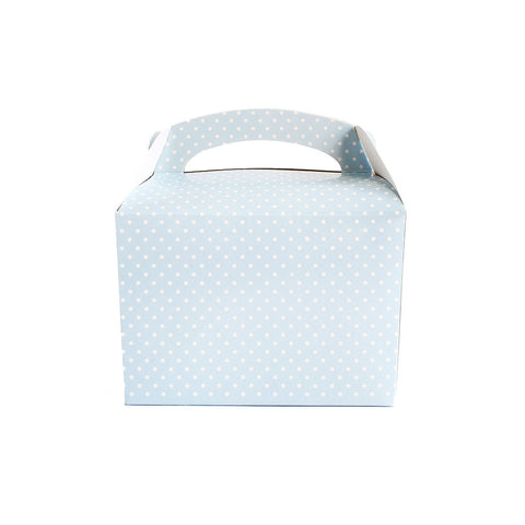 Blue polka dot lunch box - Hello Party - All you need to make your party perfect!