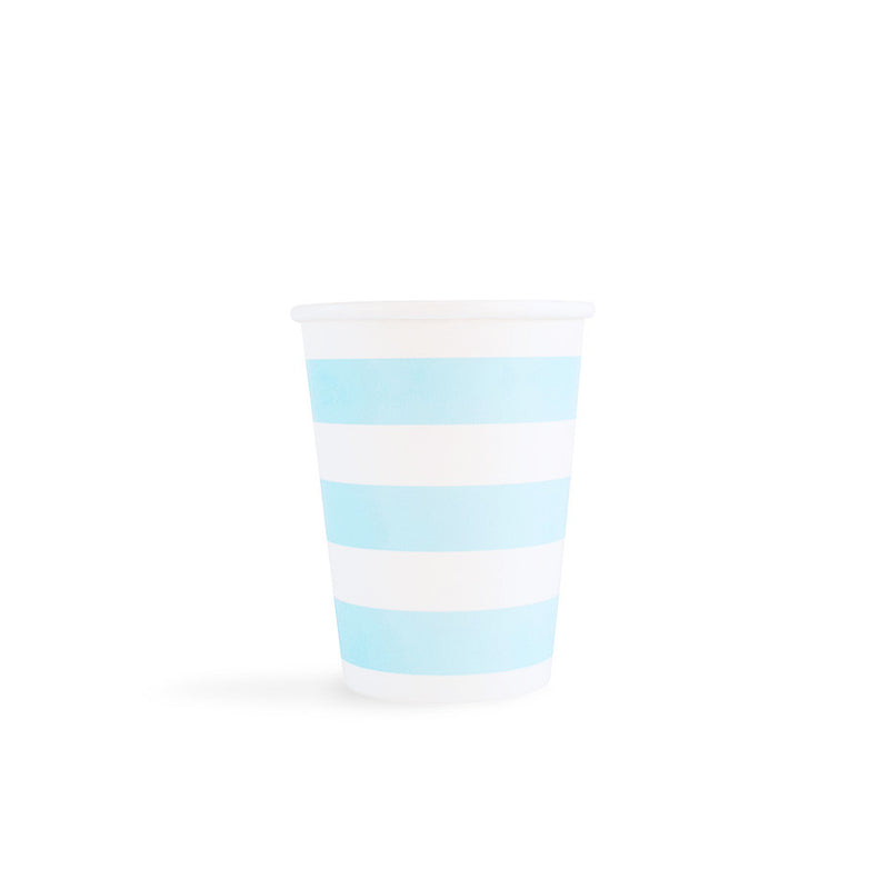 Light Blue Sailor Stripes Cups