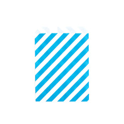 Blue striped treat bags  Party Bags Neviti - Hello Party