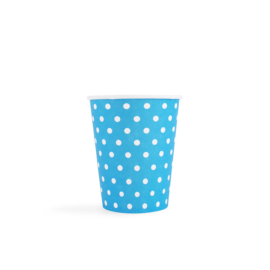 Carnival - Paper Cups - Dots Blue - 8 - Hello Party - All you need to make your party perfect!
