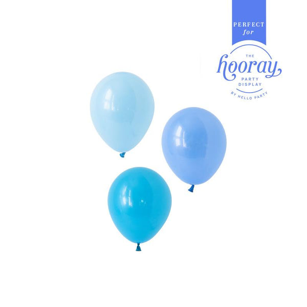 Brilliant Blues Balloons Hooray Party Display Contents Pack  Fillable Cake Stand Content Packs Hello Party - Hello Party