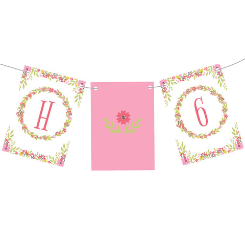 Pretty Flower Birthday Bunting