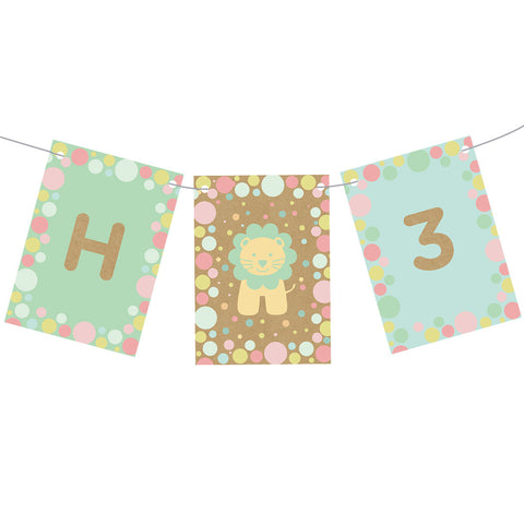 Pastel Animal Party Bunting