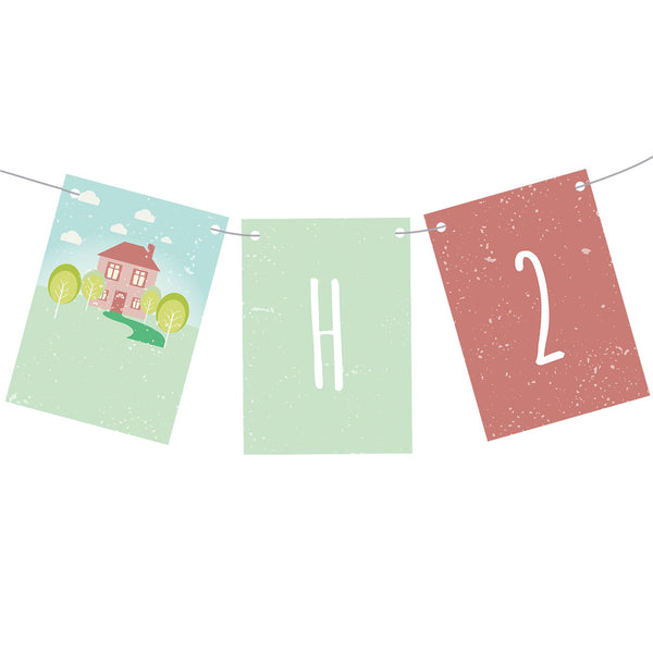 Welcome Home Personalisable Party Bunting Decorations