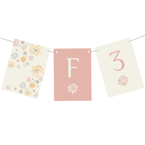 Pretty Scattered Flowers Bunting