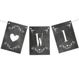 Blackboard Wedding Bunting  Personalisable Bunting Hello Party - All you need to make your party perfect!  - Hello Party