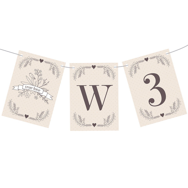 Classic Country Wedding Bunting  Personalisable Bunting Hello Party - All you need to make your party perfect!  - Hello Party
