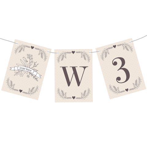 Classic Country Wedding Bunting