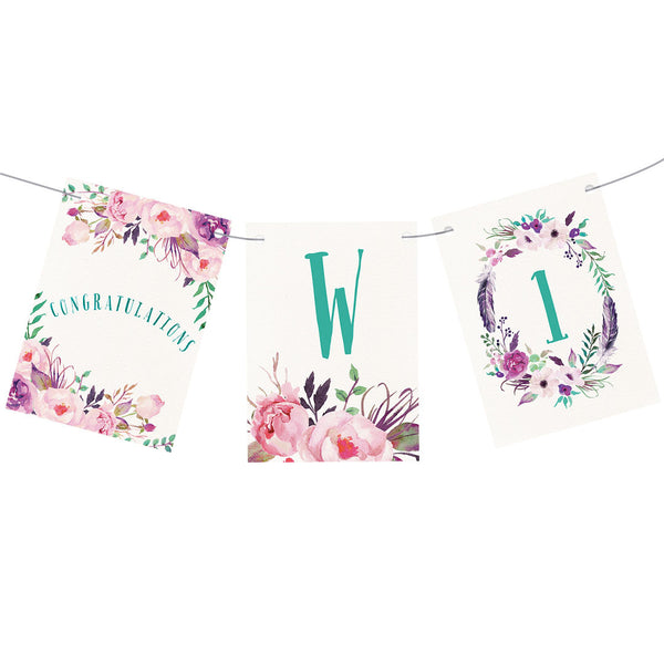 Rustic Watercolour Fresh Bunting