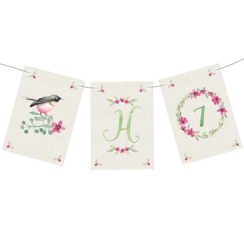 Watercolour Wreaths Bunting