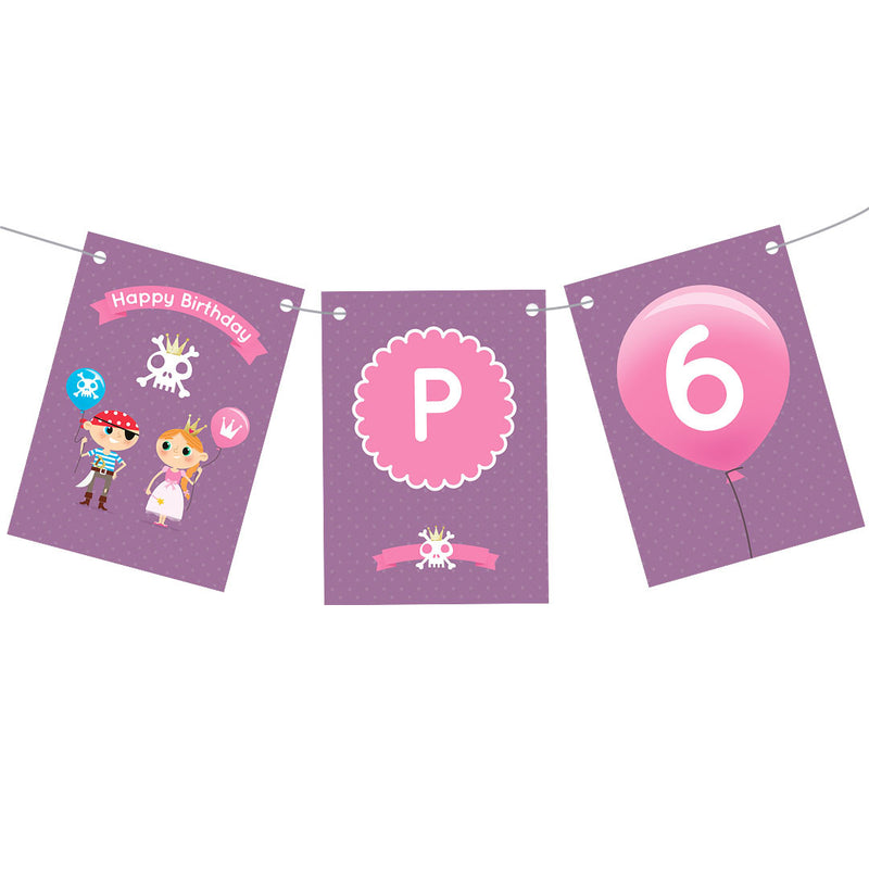 Pirate & Princess Party Bunting