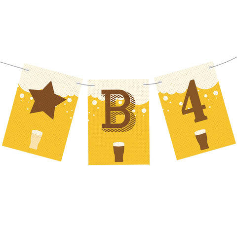 A Pint of Birthday Beer Bunting  Personalisable Bunting Hello Party - All you need to make your party perfect!  - Hello Party