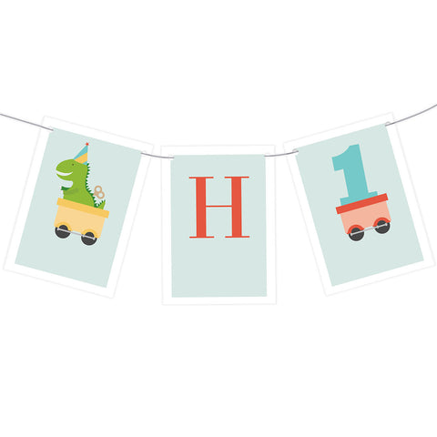 1st Birthday Party Train Bunting  Personalisable Bunting Hello Party - All you need to make your party perfect!  - Hello Party
